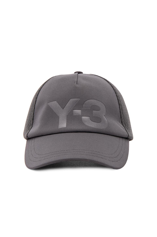 Y-3 Yohji Yamamoto Trucker Cap in Solid Grey
