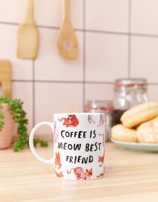 Monki cat print mug