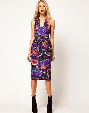 Image 1 ofASOS Midi Dress In Empire Floral Print