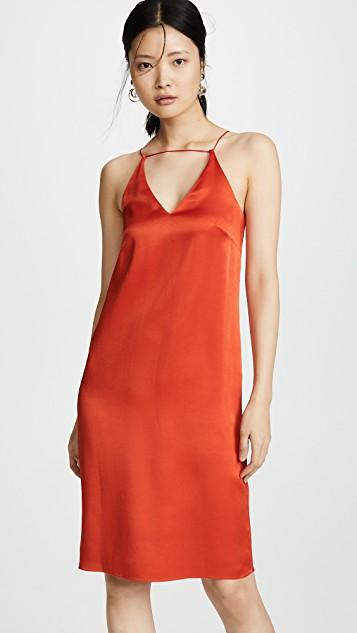 Wrap Front Slip Dress