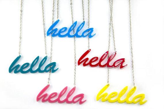 Hella Necklace - Handmade - laser cut - laser cut jewelry