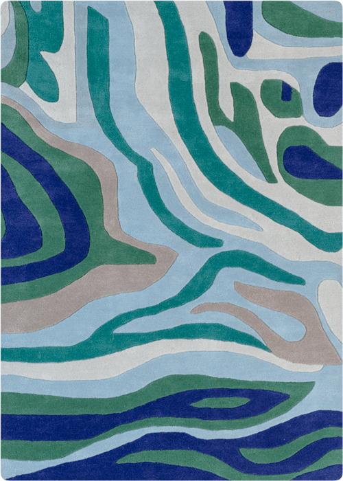 River Stream Wool Rug